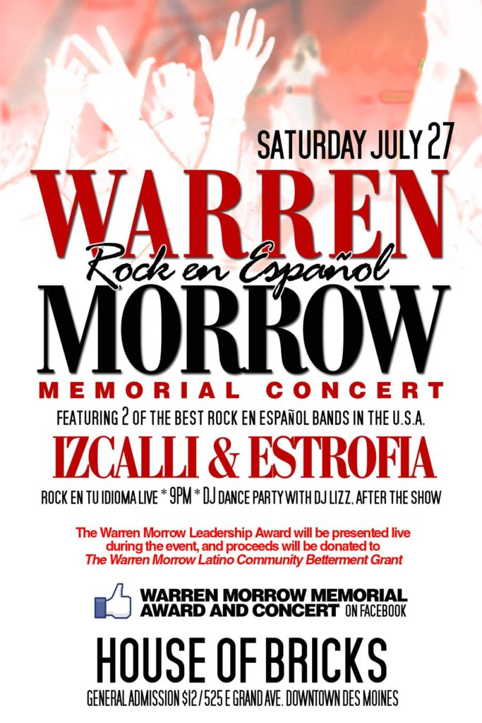 warren morrow latin music fest poster