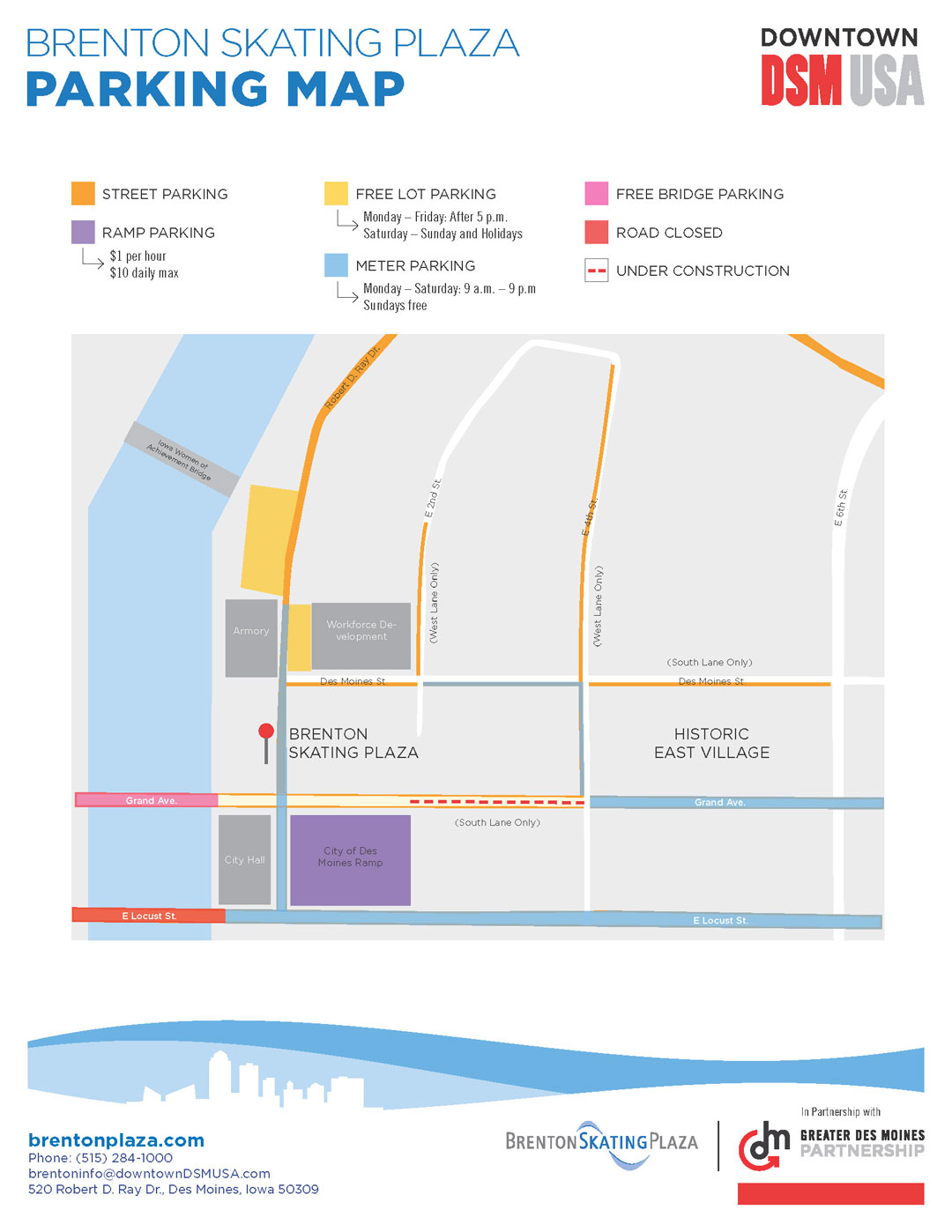 Brenton Plaza parking map